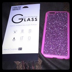 iPhone 6 case and a iphone glass screen protector